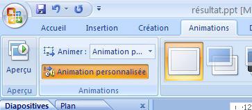 animation personnalisée