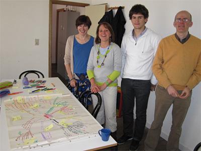 Client : <br />Maison de l'Ecologie <br /><br /> Technique : <br />brainstorming Post-It sur carte.